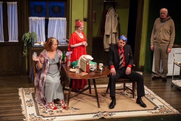 APS Louise Jameson, Catherine Skinner, Harry Gostelow, John Arthur in Absurd Person Singular (Mill at Sonning)
