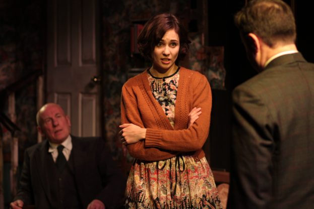 Christopher Timothy, Tuppence Middleton, Christopher Villiers in The Living Room (Jermyn Street Theatre) - Bob Workman