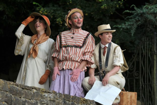 Matthew Pinches, Fiona Sheehan, Rhiannon Sommers in As You Like It (Guildford Shakespeare Company) - Steve Porter