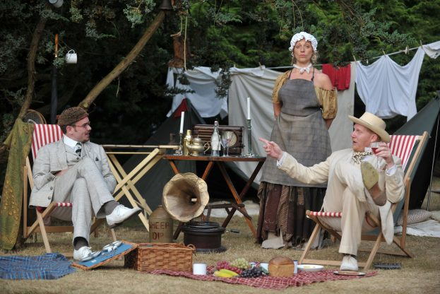Richard Delaney, Sarah Gobran, Simon Nock in As You Like It (Guildford Shakespeare Company) - Steve Porter